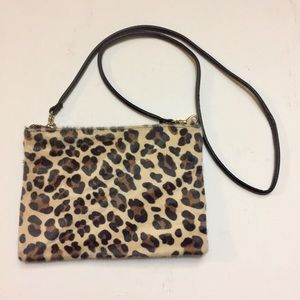 Free w $49+ purchase Leopard Fur Crossbody Bag